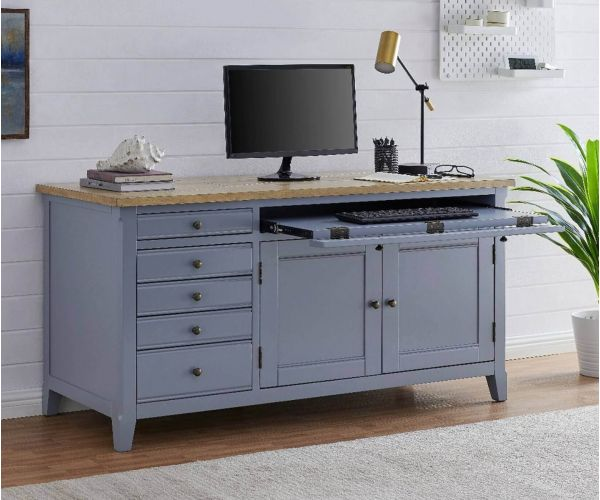 Derrys Furniture Fulton Grey Hidden Home Office Desk