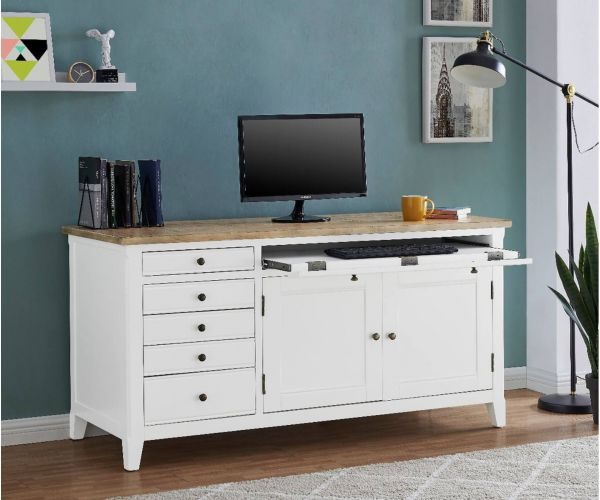 Derrys Furniture Fulton White Hidden Home Office Desk