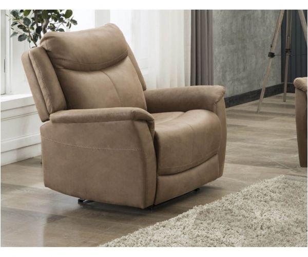 Furniture Line Arizona Caramel Fabric Recliner Armchair