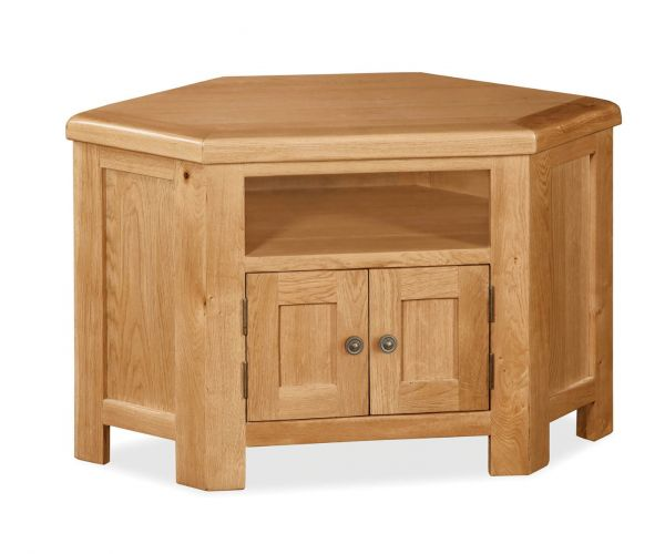 Global Home Cork Oak Corner Media Unit