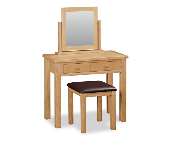 Global Home Cork Lite Oak Dressing Table Set