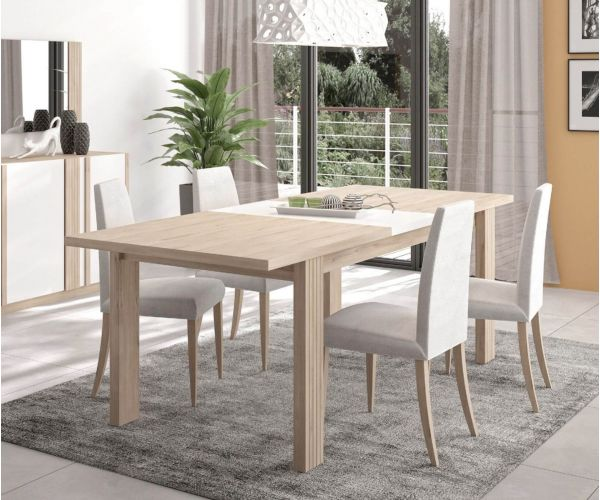 Gami Aston Wire Black Rectangular Extension Dining Table