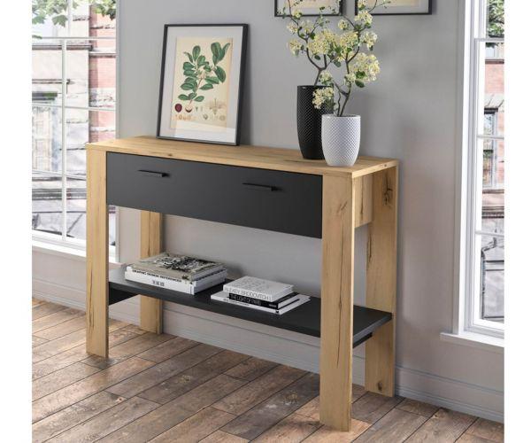 Gami Trust Helvzia Oak 1 Drawer Console Table
