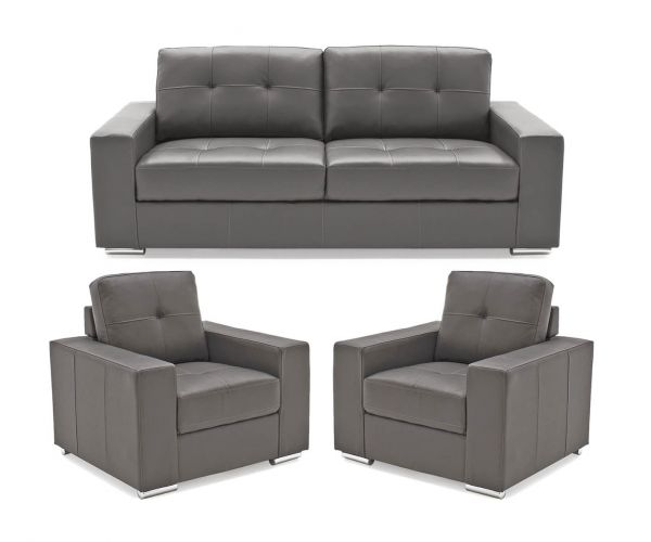 Vida Living Gemona Grey 3+1+1 Sofa Set