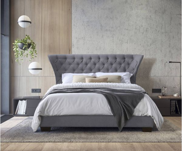 Furniture Line Georgia Grey Fabric Bed Frame