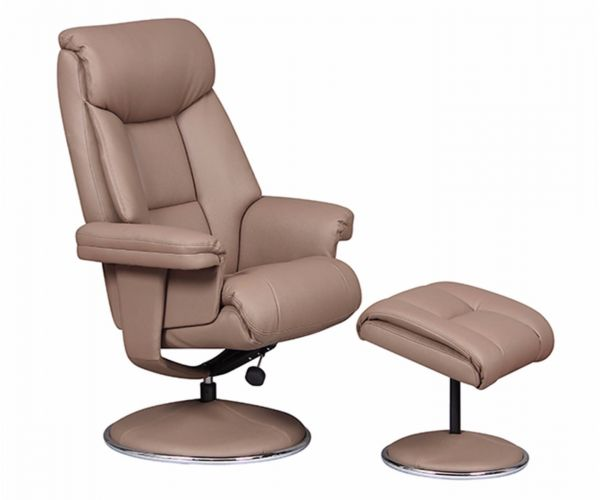 GFA Biarritz Leather Swivel Recliner Chair
