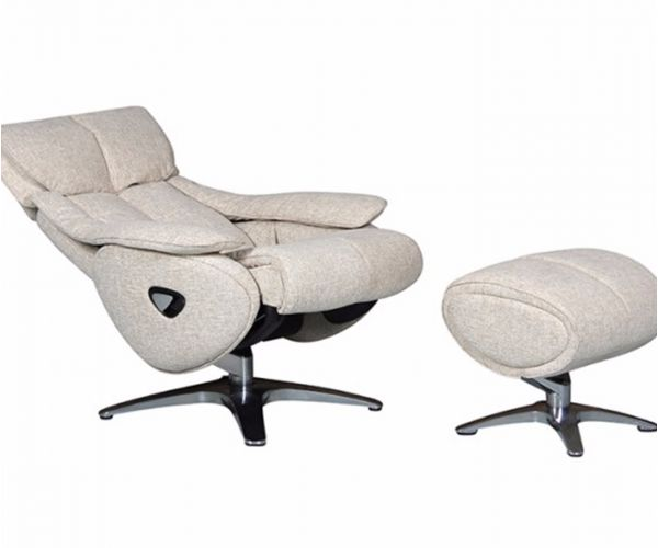 GFA Alpha Fabric Swivel Recliner Chair