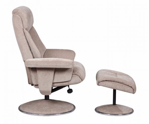 GFA Biarritz Mist Fabric Swivel Recliner Chair