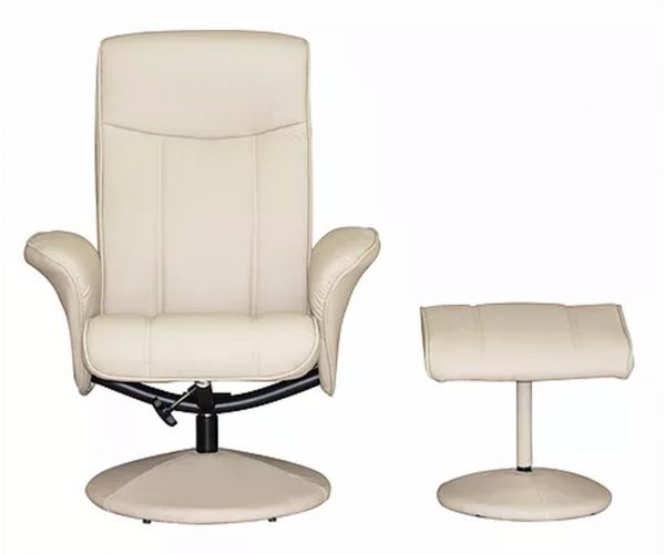GFA Siena Cafe Latte Faux Leather Swivel Recliner Chair
