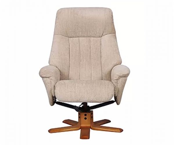 GFA St Tropez Sandstone Fabric Swivel Recliner Chair