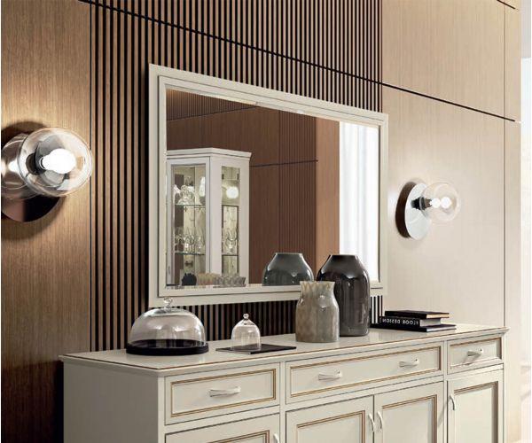 Camel Group Giotto Bianco Antico Rectangular Mirror