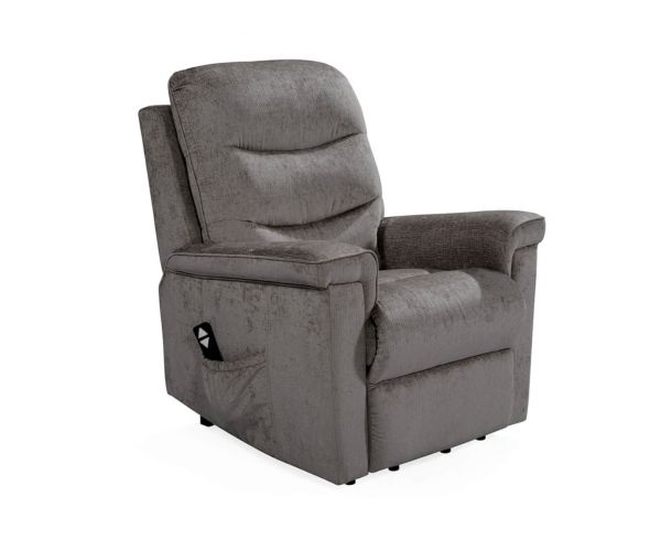 Vida Living Glencoe Charcoal Electric Recliner Chair