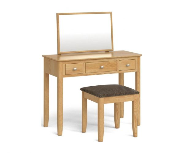 Global Home Bath Oak Dressing Table Set