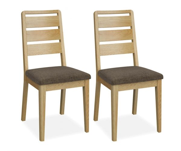 Global Home Bath Oak Ladder Dining Chair in Pair