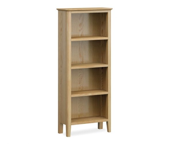 Global Home Bath Oak Slim Bookcase