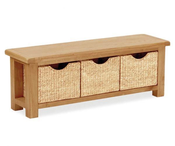 Global Home Salisbury Bench with Basket