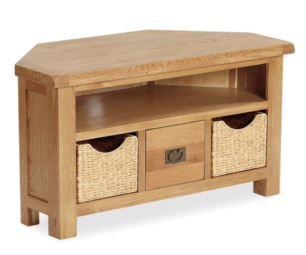 Global Home Salisbury Corner TV Unit with Basket