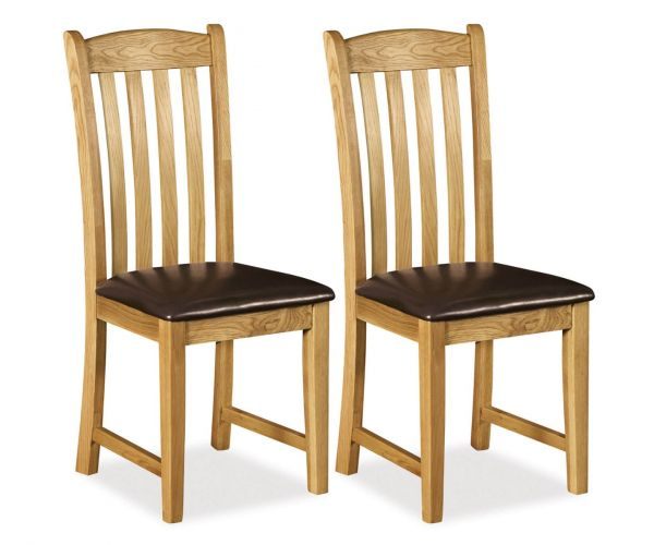 Global Home Salisbury Dining Chair with PU Seat in Pair