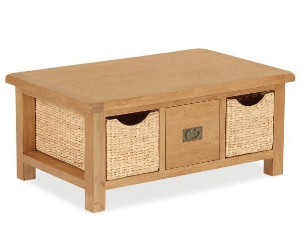 Global Home Salisbury Large Coffee Table with Basket