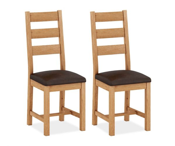 Corndell Sherwood Oak Dining Chair in Pair