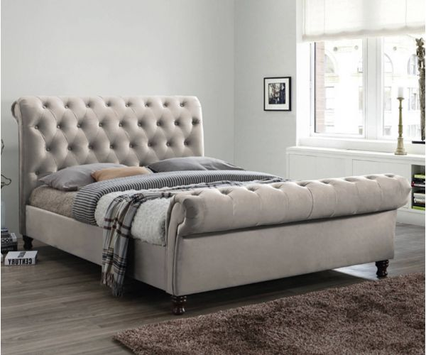 Furniture Link Grace Champagne Fabric Bed Frame