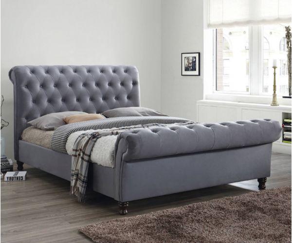 Furniture Link Grace Grey Fabric Bed Frame