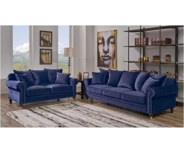 Derrys Furniture Hampton Blue 3+2 Sofa Set