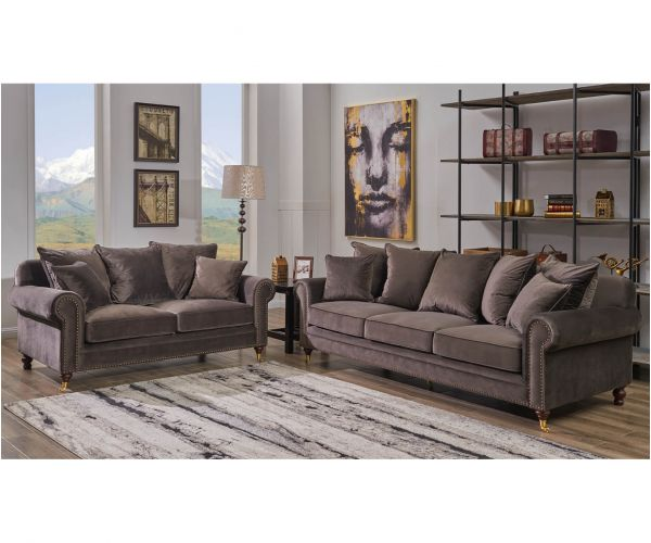 Derrys Furniture Hampton Mink 3+2 Sofa Set