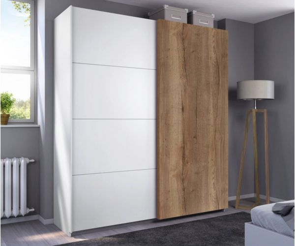 Rauch Halifax Alpine White Carcase 2 Sliding Door Wardrobe