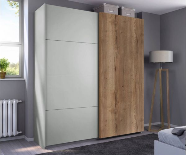 Rauch Halifax Silk Grey Carcase 2 Sliding Door Wardrobe