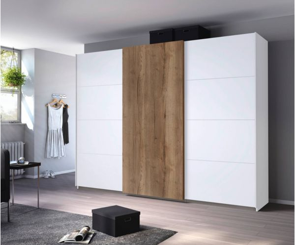 Rauch Halifax Alpine White Carcase 3 Sliding Door Wardrobe