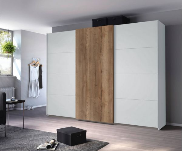 Rauch Halifax Silk Grey Carcase 3 Sliding Door Wardrobe