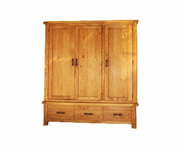 Furniture Link Hampshire 3 Door Wardrobe