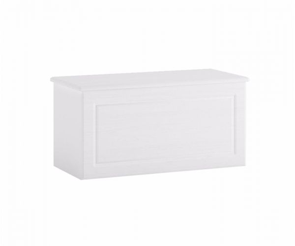 FTG Hampshire White Storage Ottoman