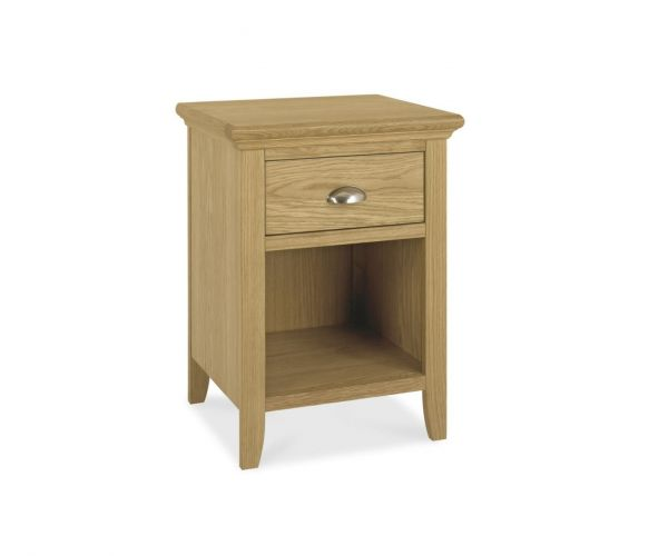 Bentley Designs Hampstead Oak 1 Drawer Nightstand