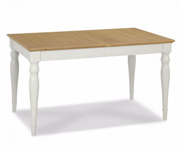 Bentley Designs Hampstead Soft Grey and Oak 4-6 Rectangular Dining Table Only