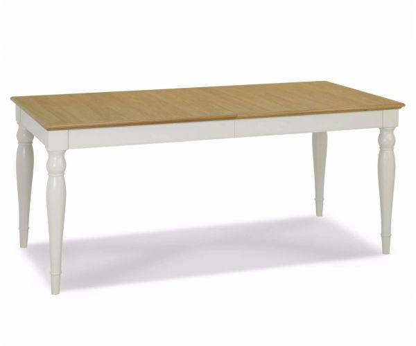 Bentley Designs Hampstead Soft Grey and Oak 6-8 Rectangular Dining Table Only