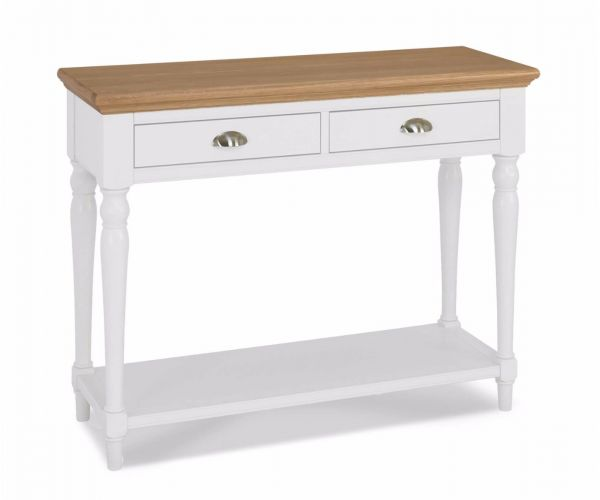 Bentley Designs Hampstead Two Tone Console Table with Turned Legs