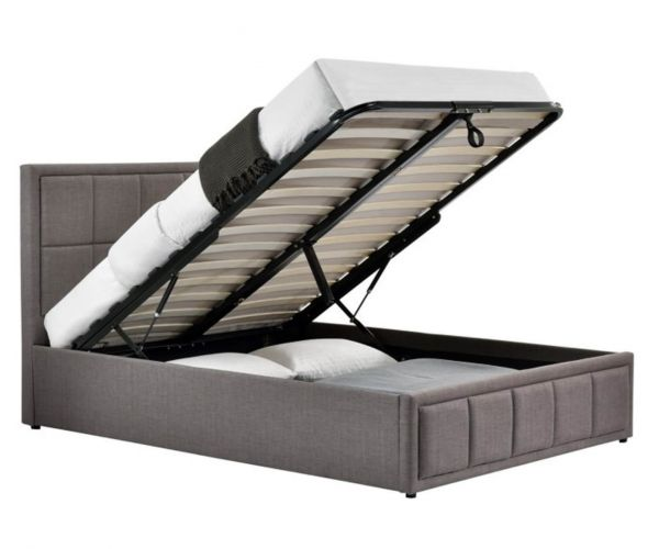 Birlea Furniture Hannover Grey Fabric Ottoman Bed Frame