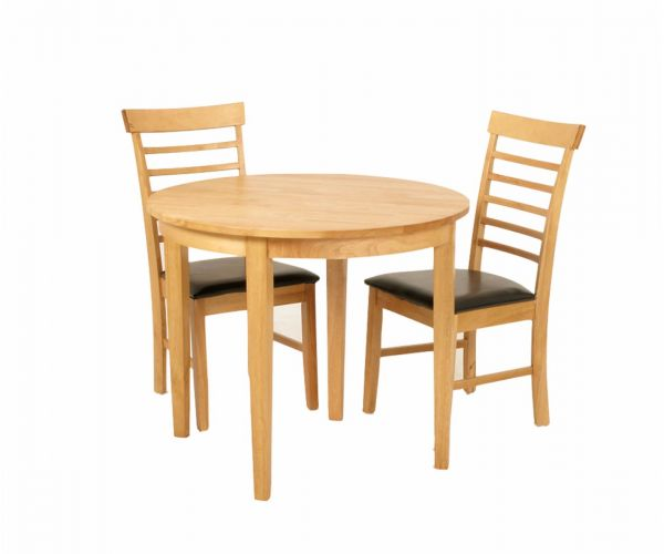 Annaghmore Hanover Round Drop Leaf Dining Table with 2 Chairs