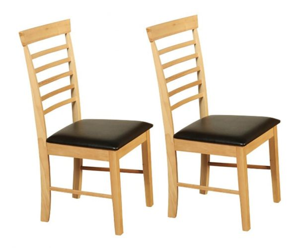 Annaghmore Hanover Solid Wood Dining Chair in Pair