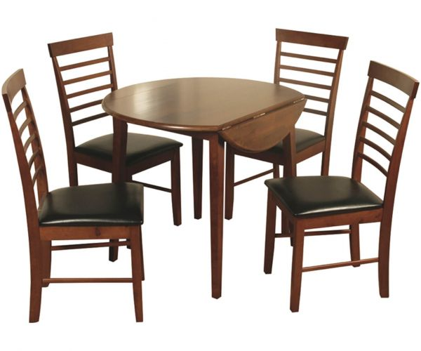 Annaghmore Hanover Dark Drop Leaf Dining Table with 4 Chairs