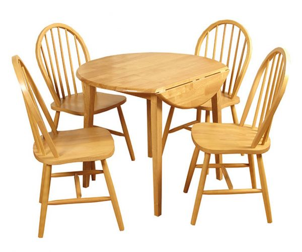 Annaghmore Hanover Drop Leaf Dining Set with Spindle Back Chairs