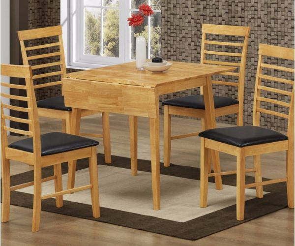 Annaghmore Hanover Square Drop Leaf Dining Table with 4 Dining Chairs