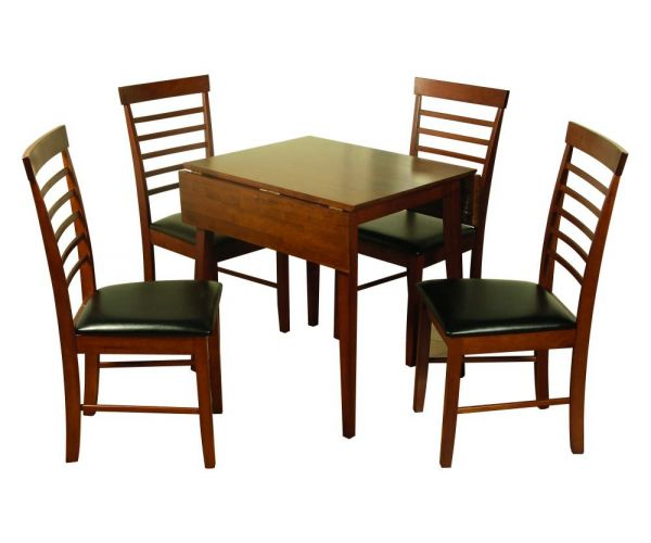 Annaghmore Hanover Dark Square Drop Leaf Dining Table with 4 Chairs