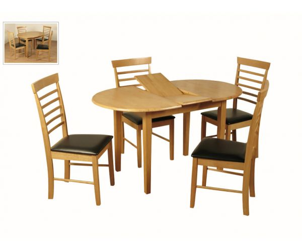 Annaghmore Hanover Oval Butterfly Dining Set with 4 Chairs