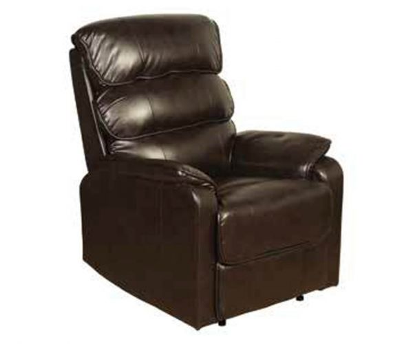 Annaghmore Harmony Two Tone Dark Brown Manual Recliner Chair