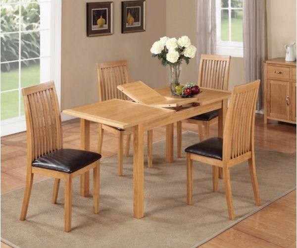 Annaghmore Hartford City Oak Small Extension Dining Set