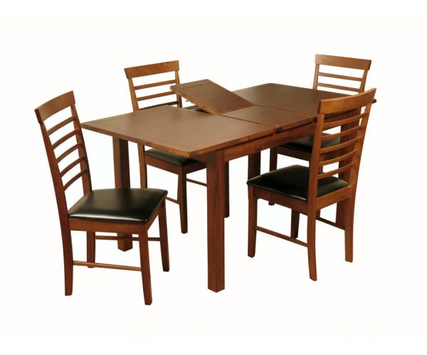 Annaghmore Hartford Acacia Dining Set with Hanover Dark Chairs