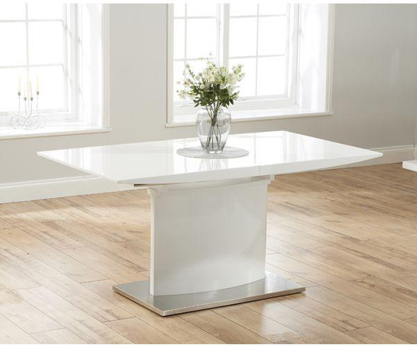 Mark Harris Hayden White High Gloss Extending Dining Table Only
